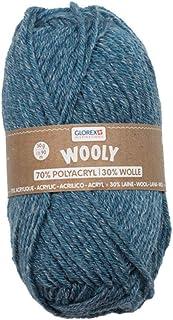 Glorex 5 1002 00 Wooly Fil à tricoter 70% acrylique/30% laine, très doux et chaud, confortable à porter, 50 g, env. 90 m, ...