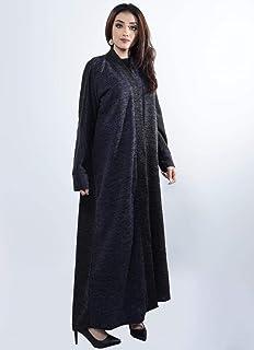 Woolen Abaya, Gray And Blue