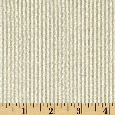 Robert Kaufman Classic Seersucker Stripe Fabric, Khaki, Fabric By The Yard