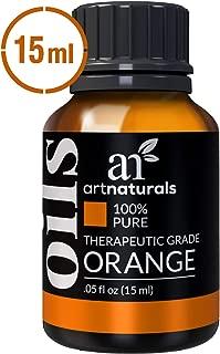 ArtNaturals 100% Pure Sweet Orange Essential Oil - (.5 Fl Oz / 15ml) - Undiluted Therapeutic Grade - Cleanse Uplift and Focus