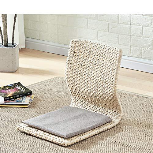 NanXi Japanische Legless Boden Stuhl, Holzstuhl Tatami Meditation Erker Sessel faul Couch für TV Lesen,C,380 * 430 * 430mm