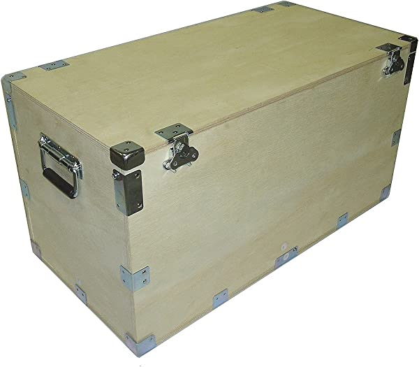 Crate Style 1 2 Inch Bare Wood Cable Trunk Case Extra High Kit Form Inside Dimensions 44 X 21 X 25 High