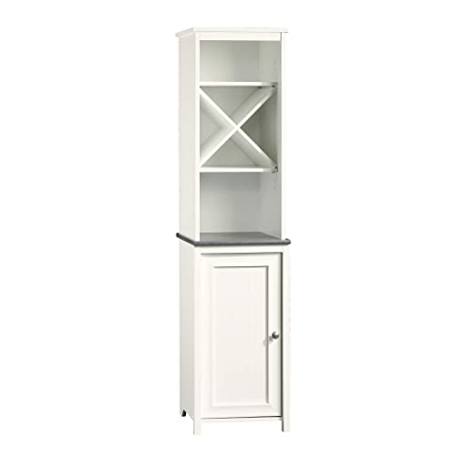 Sauder Caraway Linen Tower, Soft White finish