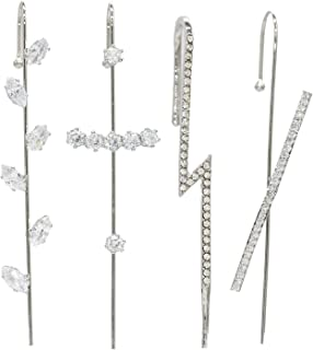 Ear Cuffs Crawler Hook Earrings for Women Gold Hypoallergenic Ear Wrap Climbers Earrings Simple Pearl Cubic Zirconia Rhine...