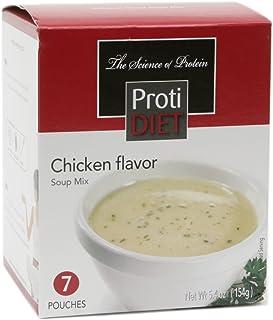 ProtiDIET Soup Nutritional Supplement 7 Pouches (5.4 oz)   Low Calorie Instant Soup With High Protein & Delicious Soup Mix...