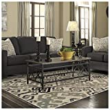 SUPERIOR Damask Area Rug Collection 5X8 -Beige