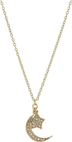 SHASHI Moon Star Pendant Necklace