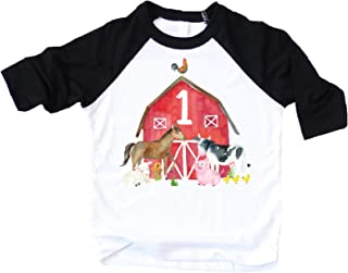 1st Birthday Boy Outfit Farm Animal First Birthday Shirt