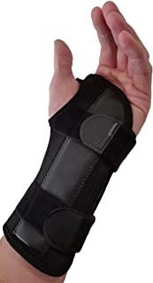 Carpal Tunnel Wrist Brace Night Support - Wrist Splint Arm Stabilizer & Hand Brace for Carpal Tunnel Syndrome Pain Relief with Compression Sleeve for Forearm or Wrist Tendonitis Pain Treatment (Left)