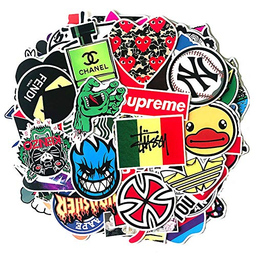 Wasserdichte Vinyl-Aufkleber für Hydroflasche, Laptop, Motorrad, Fahrrad, Stoßstange, trendige coole Aufkleber für Teenager (100 Stück)