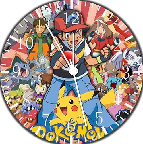 Pokemon Pikachu Ash Wanduhr, 25,4cm, schönes Geschenk, Wanddekoration, E14