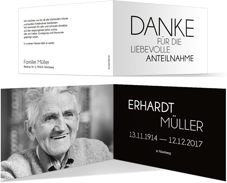 Danksagungskarten (40 Stück) Trauer Dankeskarten Individuell Trauerkarten - Schlicht Schlicht Schlicht Schwarz Weiß B073S5NN6L  | Verschiedene Stile  a6c7f3