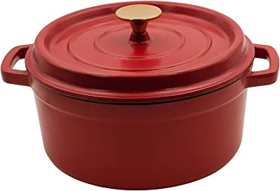 AIDEA Enameled Cast Iron Matte Dutch Oven Pot with Lid-3 Quart All-round for Preparing Low and Slow Cooking Meals