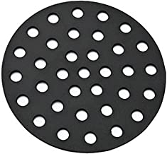 Onlyfire Barbecue Cast Iron High Heat Charcoal Fire Grate for Kamado Joe Classic and Pit Boss Grill, 10 1/2-inch