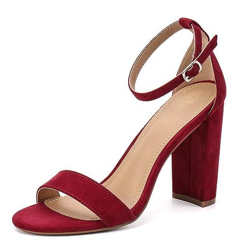 41a5c6a5b0f Moda Chics Women s High Chunky Block Heel Pump Dress Sandals