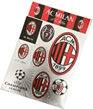 Football Club Soccer Team Logo Stickers Car Glass/Wall/Laptop/Favorite Items Sticker Decal (AC Milan, 7.8-11.8 inch)