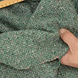 kawenSTOFFE Tweedstoff Mantelstoff Grün Grau Schurwolle