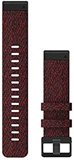 Garmin QuickFit 22 horlogebandjes – Heathered Red Nylon
