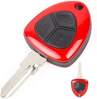 Keyecu Red Uncut 3 Butotn Replacement Smart Key Keyless Entry Remote Fob key Shell for FERRARI F430