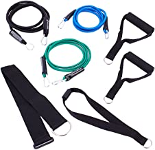SportCord Resistance Band Workout Set – 7-Piece Bungee Cord Fitness System for Home, Office & Travel – Low-Impact Physical Therapy Exercise Bands: Light, Medium & Heavy + Deluxe Handles & Door Anchor
