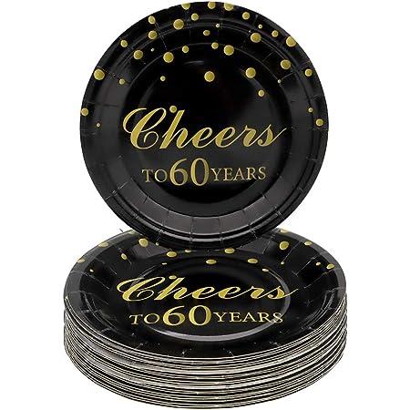 "8ct Party Decorations 60th Dessert Plates 7/"" Sparkling Celebration Birthday"