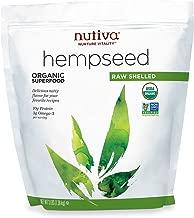 Nutiva Organic, Raw, Shelled Hempseed from non-GMO, Sustainably Farmed Canadian Hemp, 3-pound