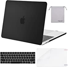 MOSISO MacBook Pro 13 inch Case 2019 2018 2017 2016 Release A2159 A1989 A1706 A1708, Plastic Hard Case&Keyboard Cover&Screen Protector&Storage Bag Compatible with MacBook Pro 13 inch, Black