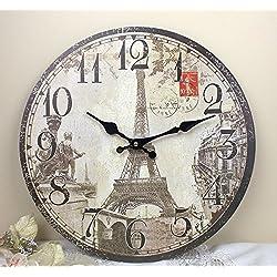 11'' Paris Eiffel Tower Monuments Wall Clock, HH310