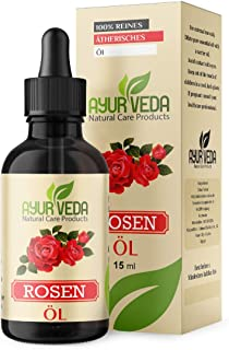 Rosenöl 100% naturreines ätherisches Öl von Ayur-Veda - 15 ml aus Ägypten