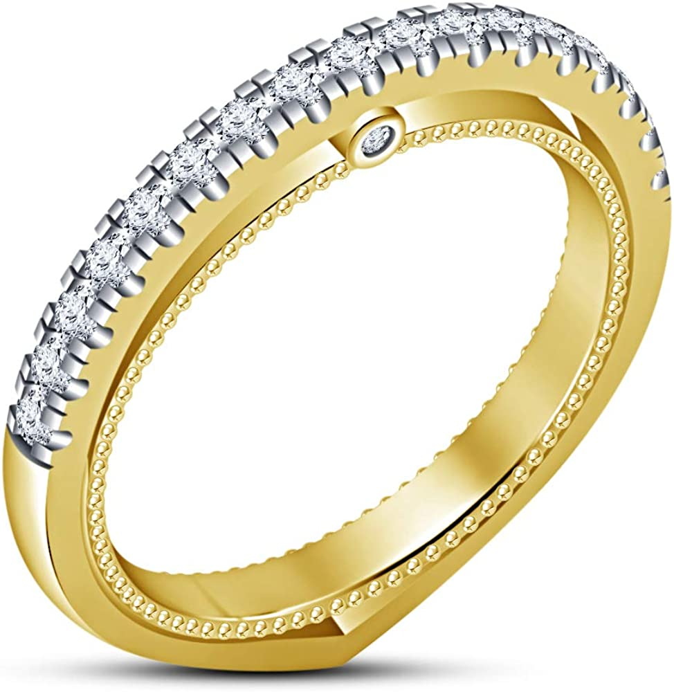 TVS-JEWELS Band Anniversary Ring for Long-awaited 1 year warranty Women's Cub White Cut Round
