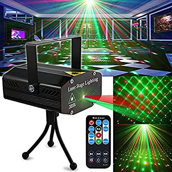 Party Light DJ Disco Lights TONGK Stage Lighting Projector Sound Activated Flash Strobe Light with Remote Control for Parties Home Show Bar Club Birthday KTV DJ Pub Karaoke Christmas Holiday