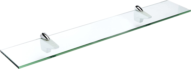 Spancraft ※ラッピング ※ Glass Falcon Shelf 33 返品送料無料 x Chrome 4.75