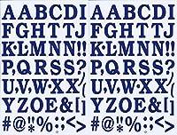 (シャシャン)XIAXIN 防水 PVC製 アルファベット ナンバー ステッカー セット 耐候 耐水 ローマ字 数字 キャラクター 表札 スーツケース ネームプレート ロッカー 屋内外 兼用 TS-519 (ネイビー, 2点)