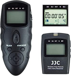 JJC Wireless Intervalometer Timer Remote Control Shutter Release for Canon EOS Rebel T7 T6 T5 T3 T7i T6s T6i T5i T4i T3i T2i SL3 SL2 SL1 EOS 90D 80D 70D 77D 60D EOS RP R M6 M5 SX70 HS SX60 HS and More