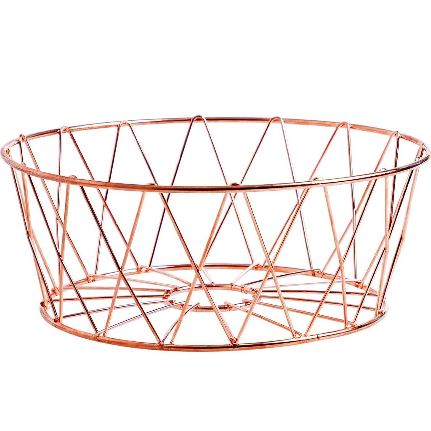 いまそれるかみそりフルーツバスケットクリエイティブリビングルームホームフルーツプレート、ローズゴールド QYSZYG