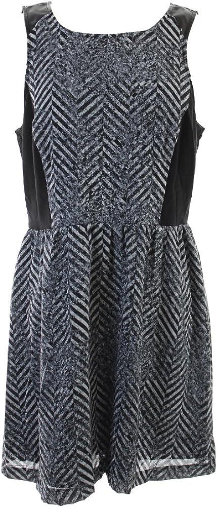 kensie Women's Speckled Chevron Dress