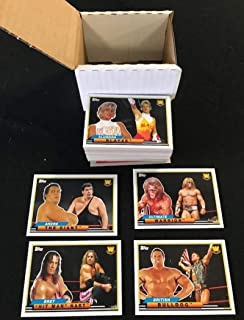 2018 Topps Heritage WWE Complete NM-MT Hand Collated Wrestling Set of 50 Cards - Includes the following cards Bob Backlund, Booker T, Bret Hit Man Hart, British Bulldog, Bruno Sammartino, Brutus The Barber Beefcake, Cowboy Bob Orton, Dean Malenko, Diamond Dallas Page, Dusty Rhodes, Eddie Guerrero, Edge, George The Animal Steele, Greg The Hammer Valentine, Hacksaw Jim Duggan, Harley Race, The Honky Tonk Man, Iron Sheik, Irwin R. Schyster, Jake The Snake Roberts, Jerry The King Lawler, Jim The A