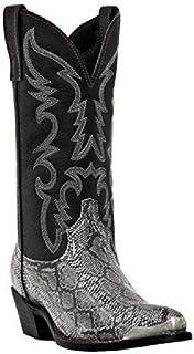 LUXDAMAI Bottes Chelsea Hautes pour Hommes Western Cowboy Knight Bottes Bout Pointu équitation Moto Botte Serpent Imprimé ...
