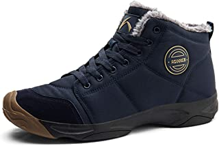 Axcone Chaussures Homme Femme Bottes Hiver imperméable Neige Randonnee Chaudement Chaudes Fourrure Baskets Bottines - Gris...