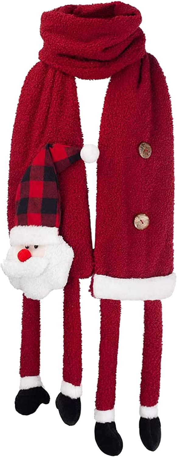 Child Christmas Scarf Winter Warm Scarves Long Scarf Cashmere Feel Shawl Holiday Decorations Gifts