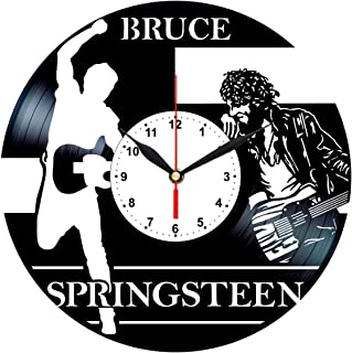 Bruce Springsteen Vinyl Clock - Record Art Wall Decor - Gifts Collectibles