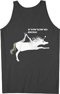 Yoga Unicorn Standing Bow Pose おかしいです 男性用 Tank Top Sleeveless Shirt