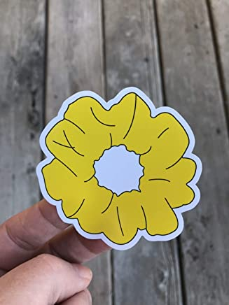 Yellow Scrunchie Sticker - Phone sticker - Word Sticker - Funny Sticker - Laptop sticker - Glossy finish