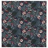 MBI Stoff dunkelblau/florales Muster, Größe