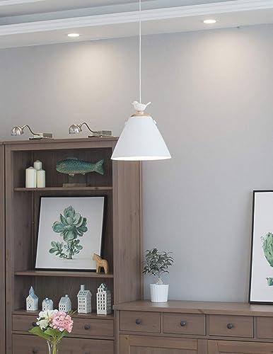 MJK Luminaires suspendus, luminaires suspendus de style vintage, luminaires suspendus de décoration, aluminium + résine Oiseau E27 1 lampes de table à hommeger flambées salon salle de restaurant restau