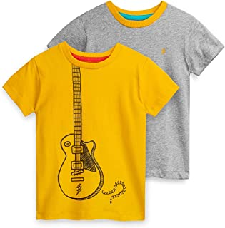 Mightly Boys and Girls' Short-Sleeve T-Shirts, Organic Cotton 2-Pack Toddler and Kids Clothes Set