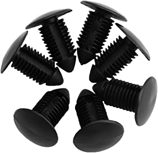Kangnice 20Pcs 11mm Car Hole Plastic Black Door Bumper Fender Rivet Push Clips Fasteners
