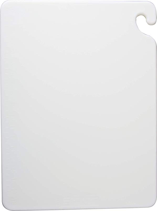 San Jamar CB152012WH Cut N Carry Color Cutting Boards Plastic 20w X 15d X 1 2h White
