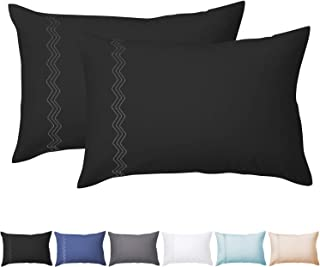 O'woda 100% Brushed Microfiber Pillowcases, 2 Pcs Set of Pillow Cases 2030 incnes, Soft and Cozy, Wrinkle, Stain Resistant...