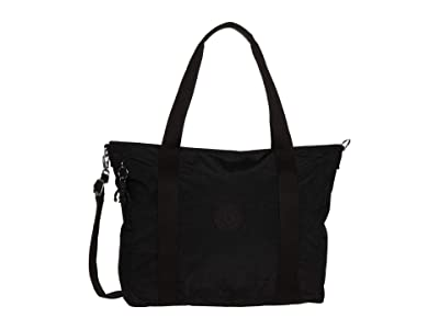 Kipling Asseni Tote Bag (Black Noir) Handbags